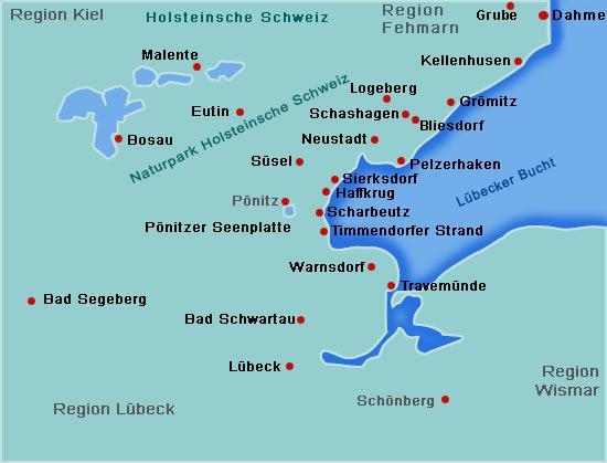 Region Lübeck Ostsee Urlaub - Ostsee Ferien, Ferienwohnung ...